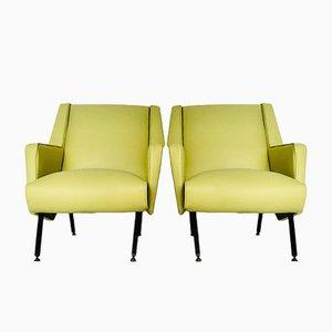 Vintage Sessel aus Nappaleder, 1970er, 2er Set