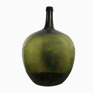 Large Vintage Dark Green Bottle