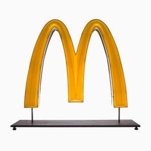 Doppelseitige McDonald's Goldener Bogen LED-Lampe, 1970er