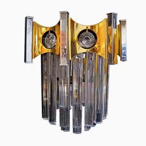 Lámpara de pared de cristal de Murano de Gaetano Sciolari, años 60