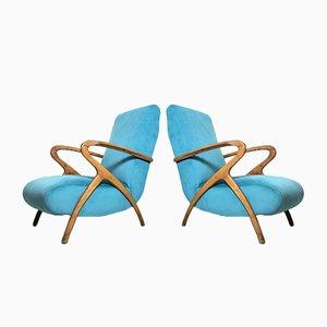 Italienische Vintage Sessel, 1940er, 2er Set