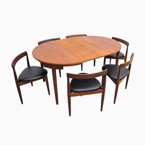 Tavolo da pranzo con sei sedie di Hans Olsen per Frem Røjle, anni '60