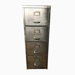 Vintage Industrial Metal Filing Cabinet with 4 Drawers