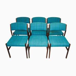 Chaises Vintage en Palissandre, 1970s, Set de 6