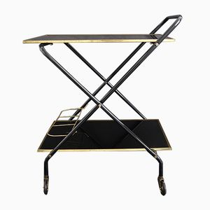 Mid-Century Brass & Glass Bar Cart, 1960s