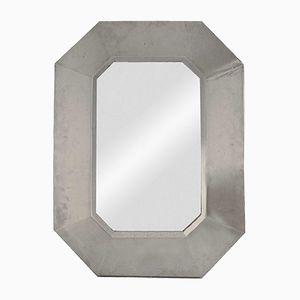 Spiegel mit Rahmen aus Edelstahl von Maison Jansen, 1970er