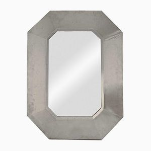 Stainless Steel Mirror from Maison Jansen, 1970s