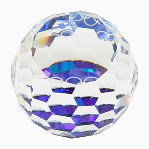 Crystal Glass Winter Olympics Paperweight from Swarovski, 1976
