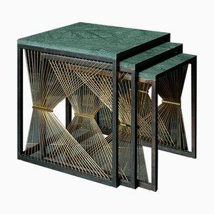 Tavolini ad incastro AEGIS 001 di Ziad Alonaizy, set di 3