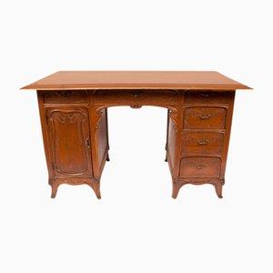 Antiker französischer Schreibtisch aus Nussholz