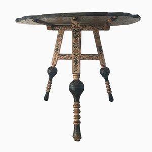 Mesa holandesa antigua pintada a mano