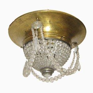 Tschechische Deckenlampe, 1920er
