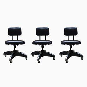 Amerikanische Vintage Bürostühle, 3er Set