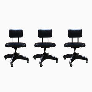Vintage American Office Chairs, Set of 3