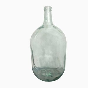 Vintage Light Green Demijohn from Viresa, 1950s