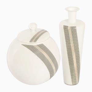 Murano Glass Vases by Tapio Wirkkala for Venini, 1968, Set of 2