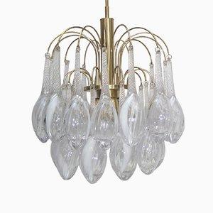 Lámpara de techo vintage de cristal de Murano de Mazzega, años 60
