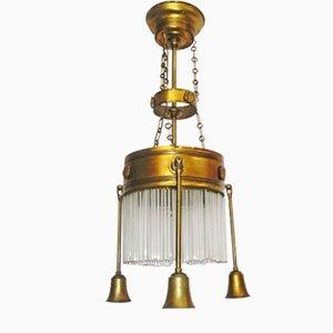 Antike Art Deco Deckenlampe