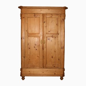 Small Softwood Antique Wardrobe