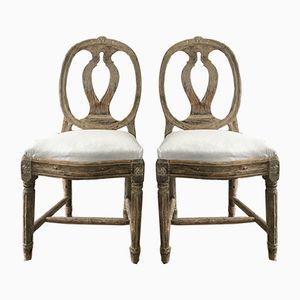 Antike schwedische Modellstühle, 2er Set