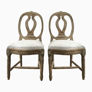 Antique Swedish Model Chairs, Set of 2