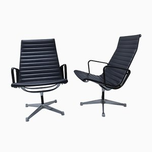 EA116 Alu Chairs by Charles & Ray Eames for Herman Miller, 1970s, Set of 2