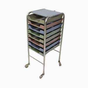 Vintage Metal Filing Trolley from Embru, 1970s