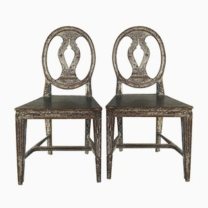 18th-Century Swedish Chairs, Set of 2