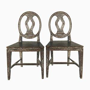 Schwedische Stühle, 18. Jh., 2er Set