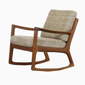 Vintage Danish Rocking Chair by Ole Wanscher for Cado, 1960s