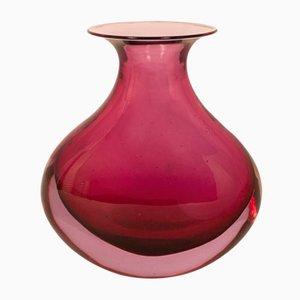 Jarrón de cristal de Murano de Flavio Poli, años 60