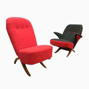 Niederländische Vintage Congo & Pinguin Stühle von Theo Ruth für Artifort, 2er Set