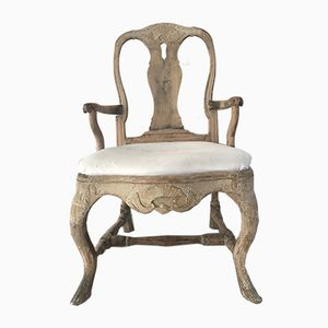 18th-Century Rococo Swedish Armchair
