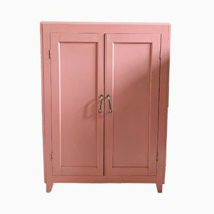 Mid-Century French Pink Cupboard