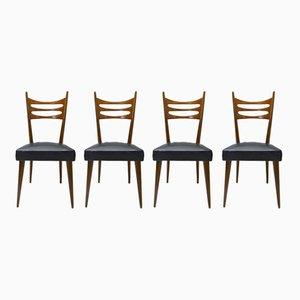 Vintage Esszimmerstühle von Paolo Buffa, 1950er, 4er Set