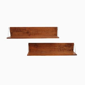Vintage Floating Shelves, 1960s, Set of 2