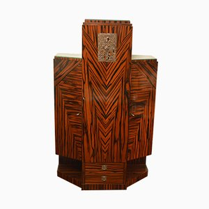 Art Deco Macassar Cabinet by Joseph De Coene, 1928