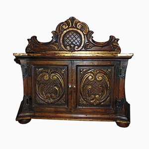 Vintage Art Deco Wooden Carved Cabinet
