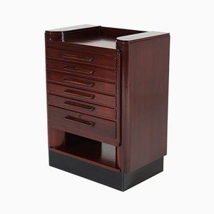 Dutch Art Deco Mahogany Haagse School Jewelry Cabinet by Anton Lucas
