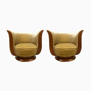 Art Deco Modell Depose Tulip Sessel, 2er Set
