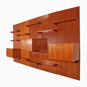Giant Teak Wall Unit by Kai Kristiansen for Feldballes Møbelfabrik, 1950s