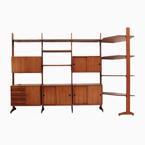 Mid-Century Italian Wall Unit with Corner, 1960s