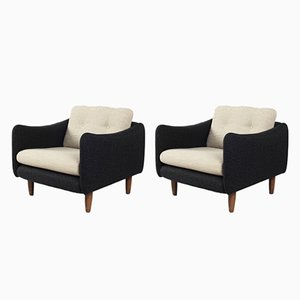 Mid-Century Armchairs by Michel Mortier for Steiner, 1960s, Set of 2