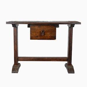 Table d'Appoint Vintage en Bois Massif, Italie