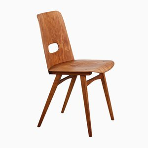 Wooden Chair by Oswald Haerdtl for TON, 1950s
