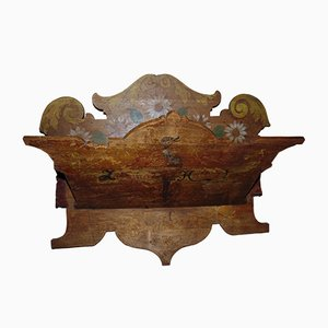 Art Nouveau Wooden Newspaper Rack