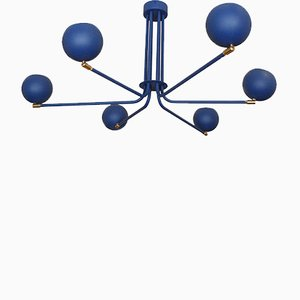 Blue Jupiter Chandelier by Juanma Lizana