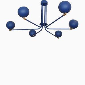 Lámpara de araña Blue Jupiter de Juanma Lizana