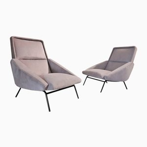 Vintage Lounge Chairs by Gerard Guermonprez, 1950s, Set of 2