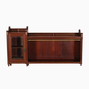 Dutch Art Nouveau Mahogany Cabinet with Brass Inlay, 1900s